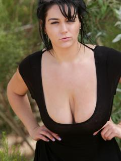 Busty Outdoors